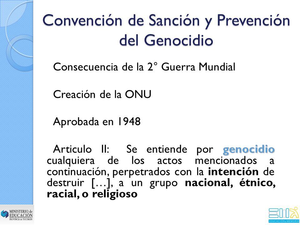 Convención de Sanción y Prevención del Genocidio