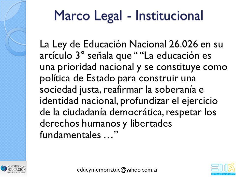 Marco Legal - Institucional