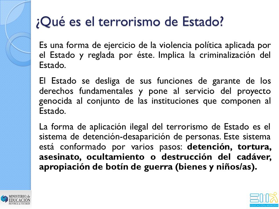 ¿Qué es el terrorismo de Estado