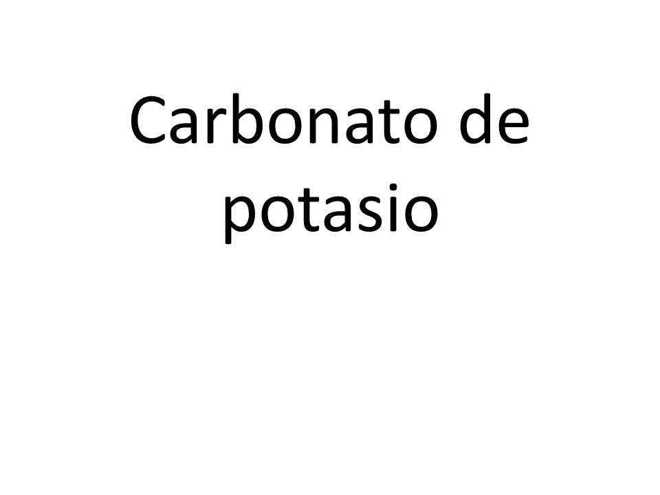 Carbonato de potasio