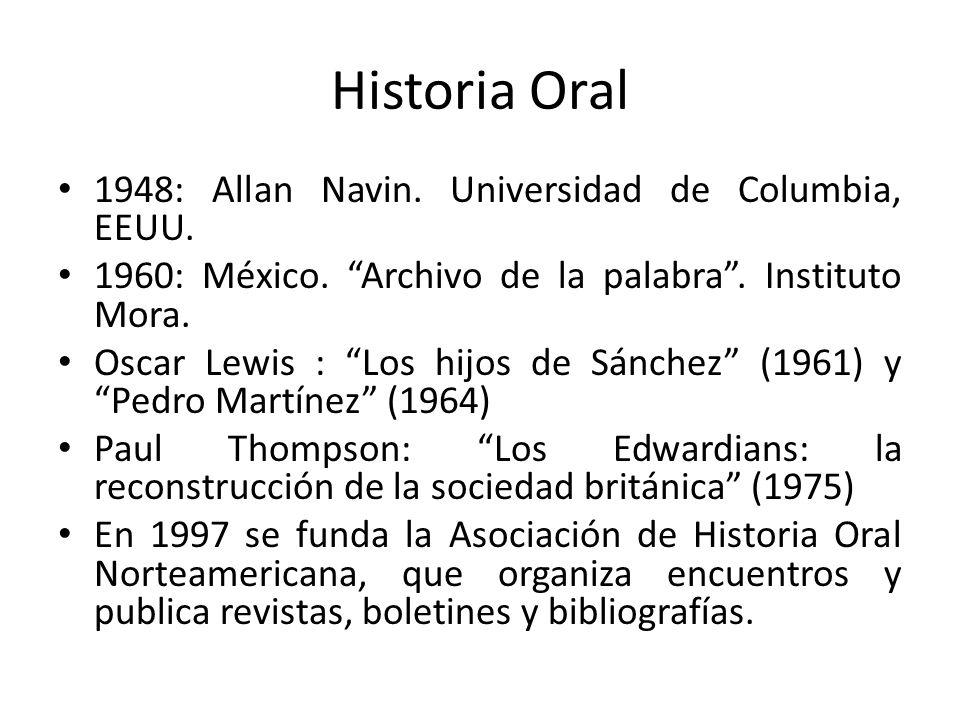 Historia Oral 1948: Allan Navin. Universidad de Columbia, EEUU.