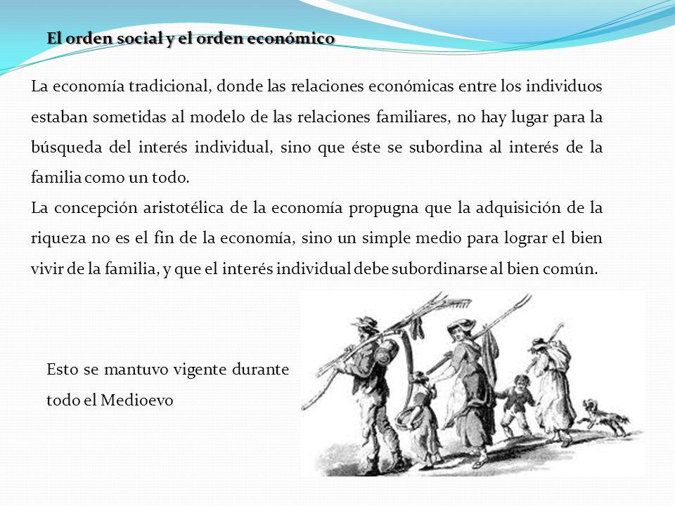 El orden social y el orden económico