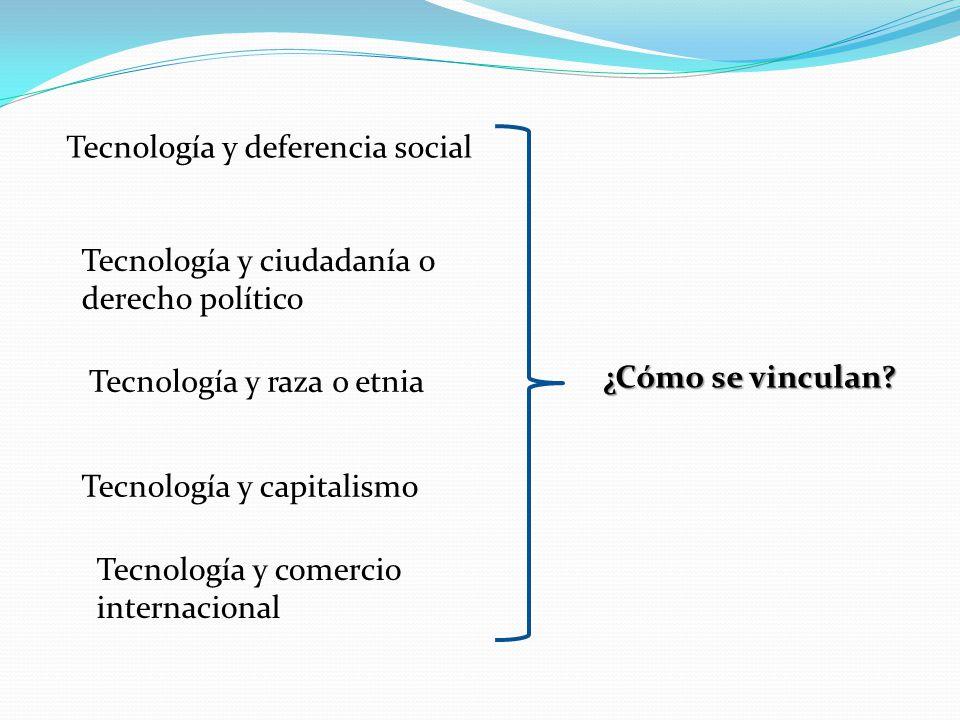 Tecnología y deferencia social