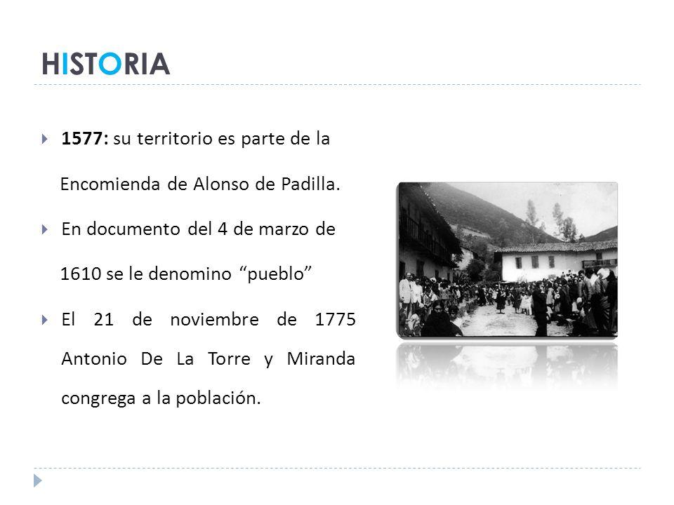 HISTORIA 1577: su territorio es parte de la
