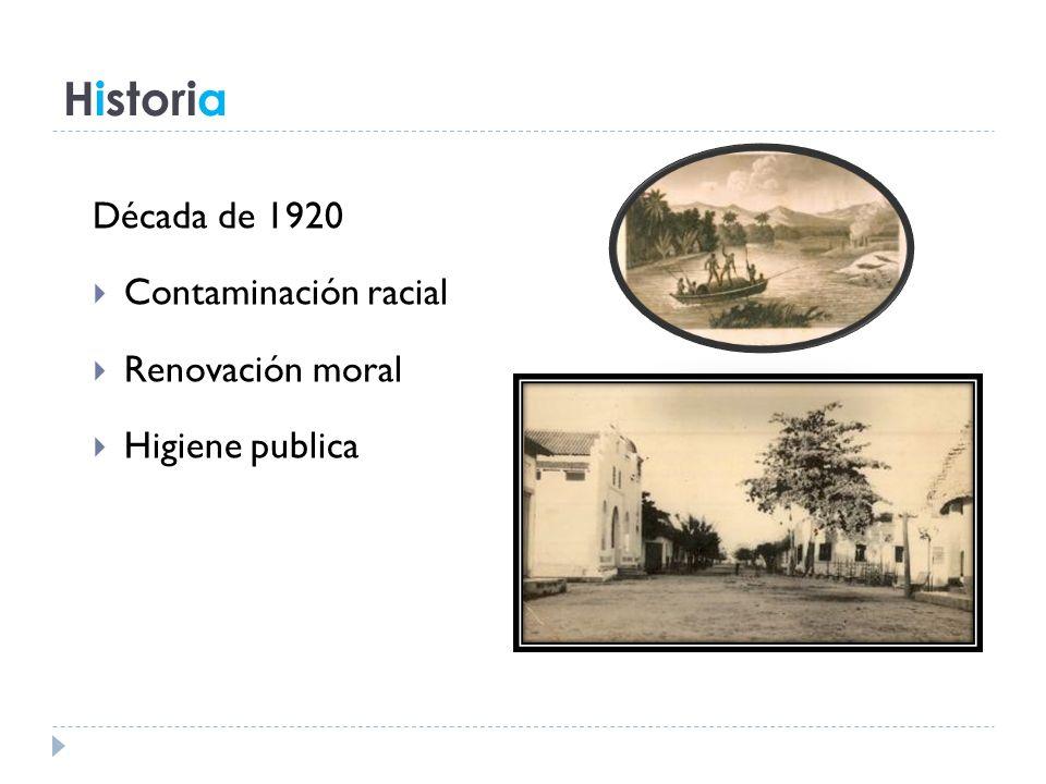 Historia Década de 1920 Contaminación racial Renovación moral