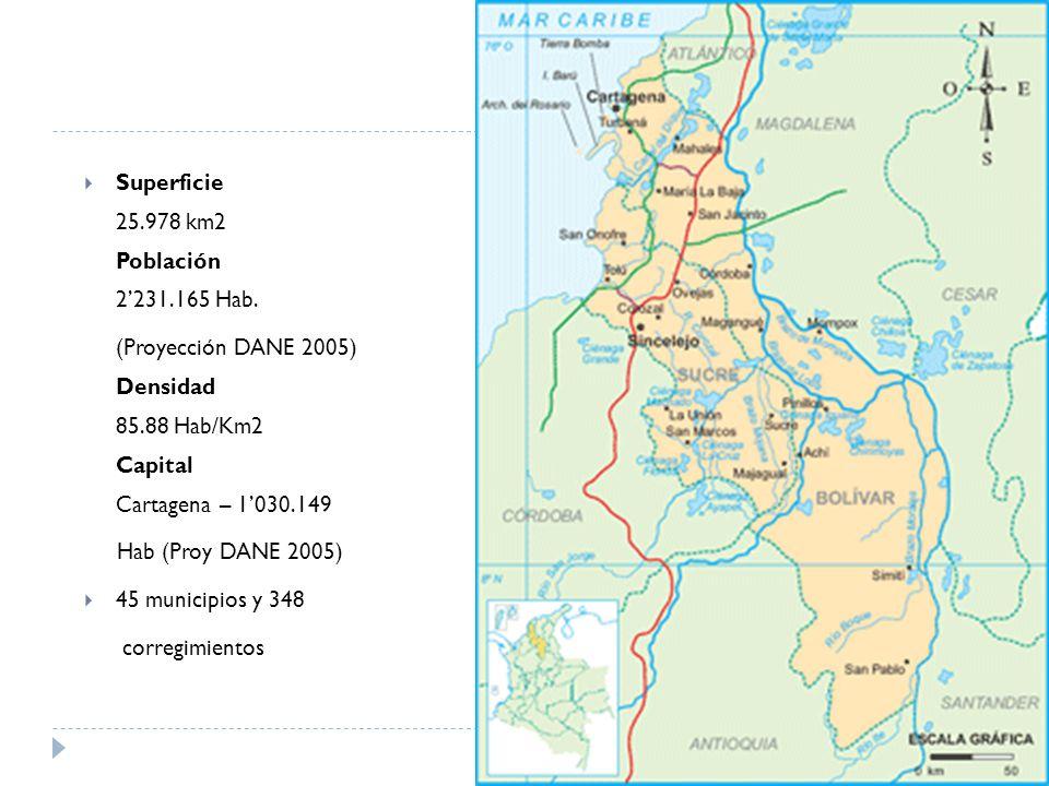 Superficie 25.978 km2 Población 2'231.165 Hab.