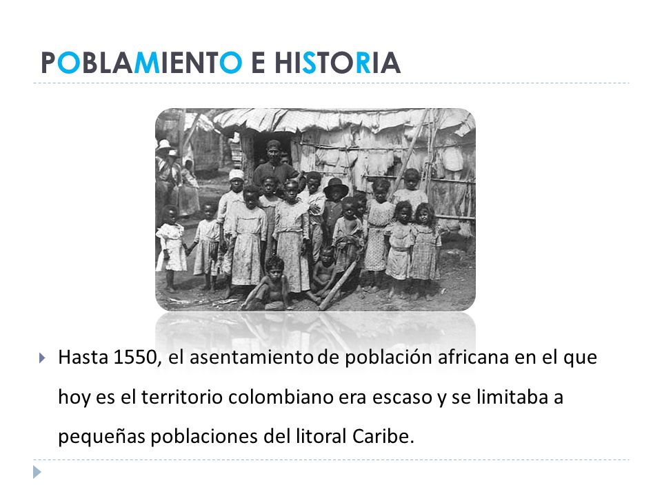 POBLAMIENTO E HISTORIA