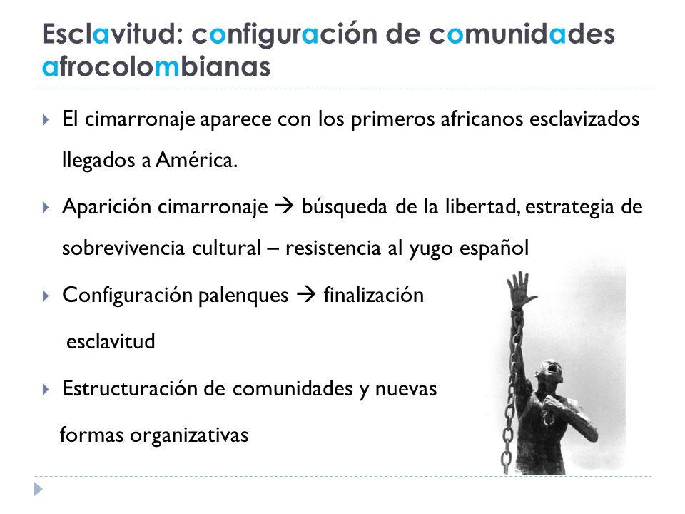 Esclavitud: configuración de comunidades afrocolombianas
