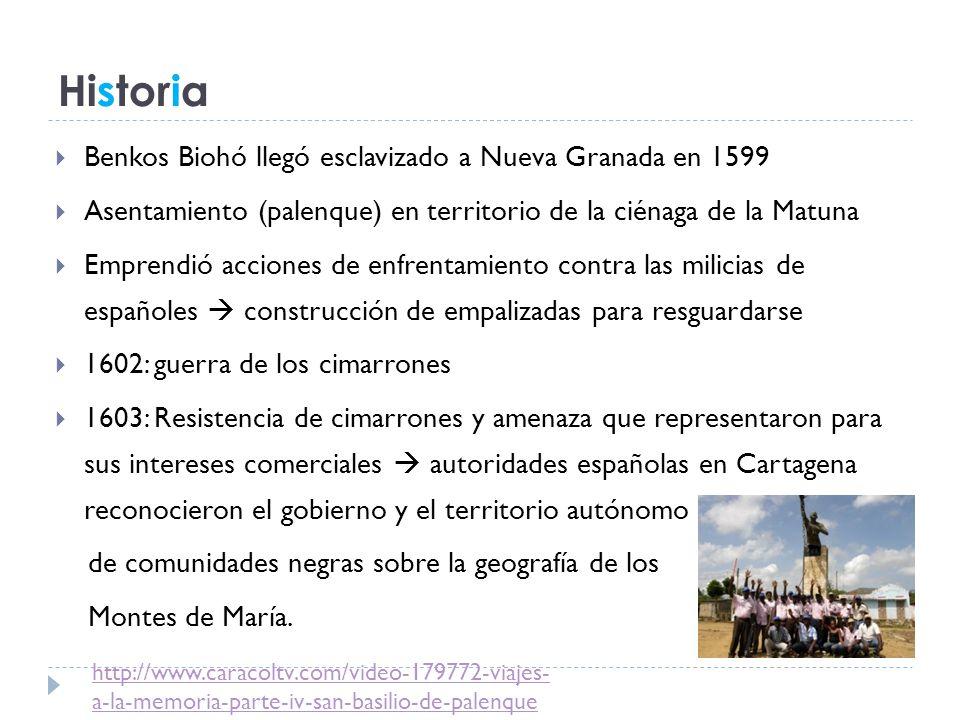 Historia Benkos Biohó llegó esclavizado a Nueva Granada en 1599