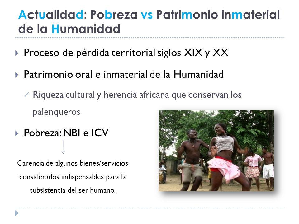 Actualidad: Pobreza vs Patrimonio inmaterial de la Humanidad
