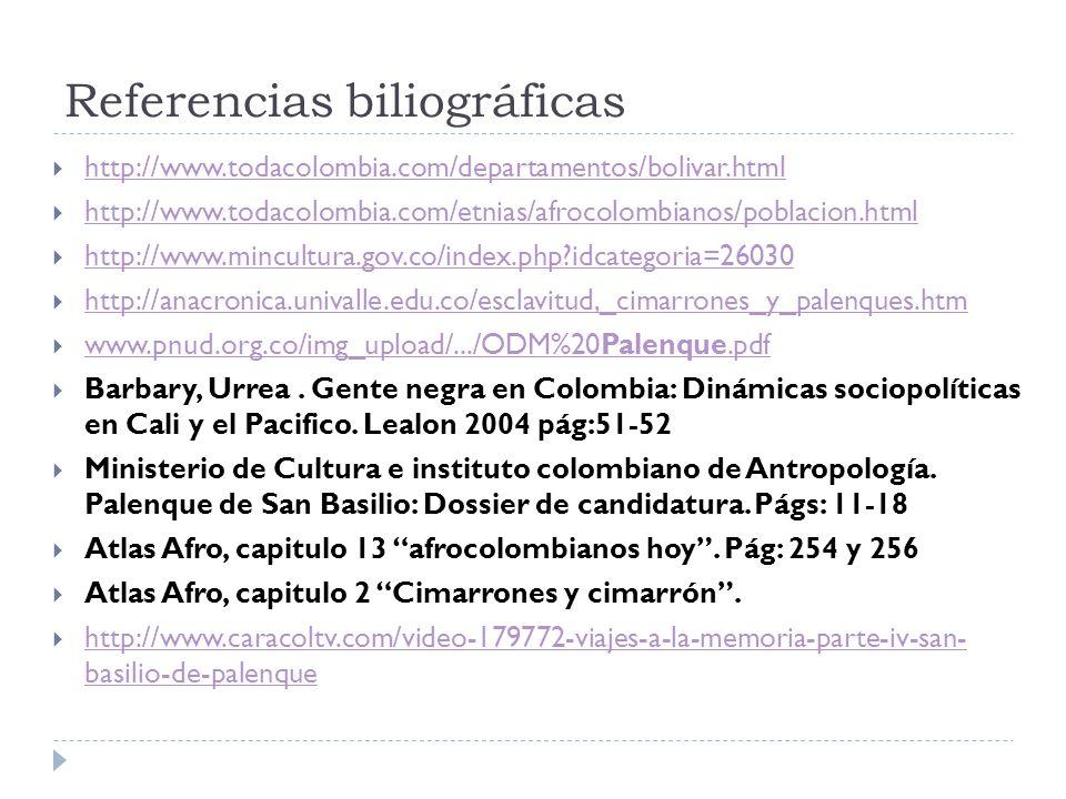 Referencias biliográficas
