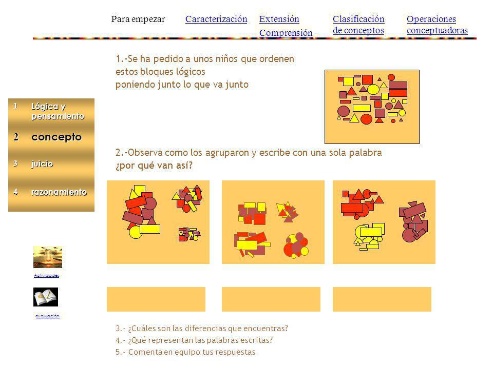 2 concepto Para empezar Caracterización Extensión Comprensión