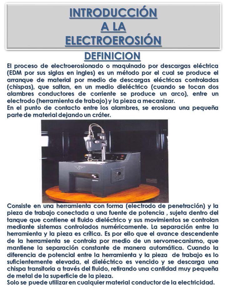 INTRODUCCIÓN A LA ELECTROEROSIÓN