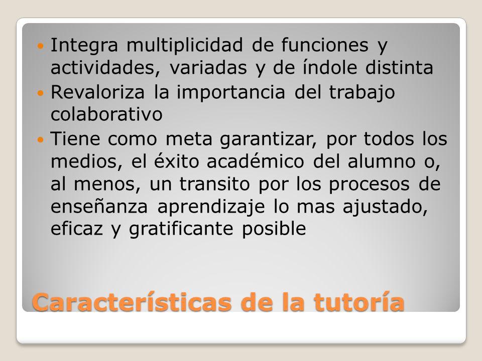 Características de la tutoría