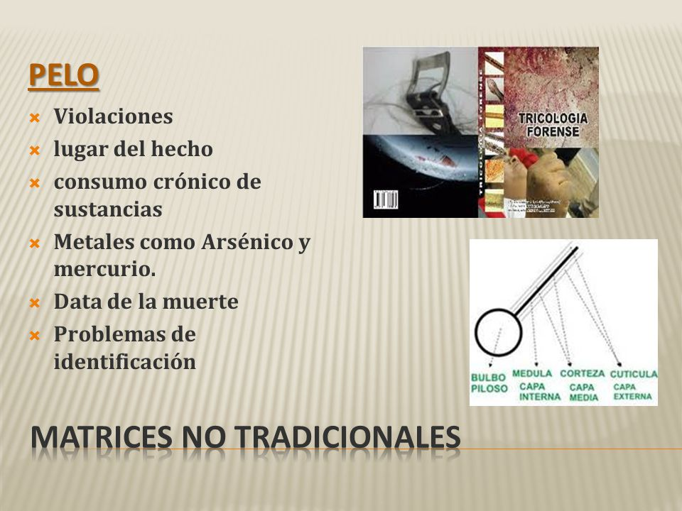 Matrices no tradicionales