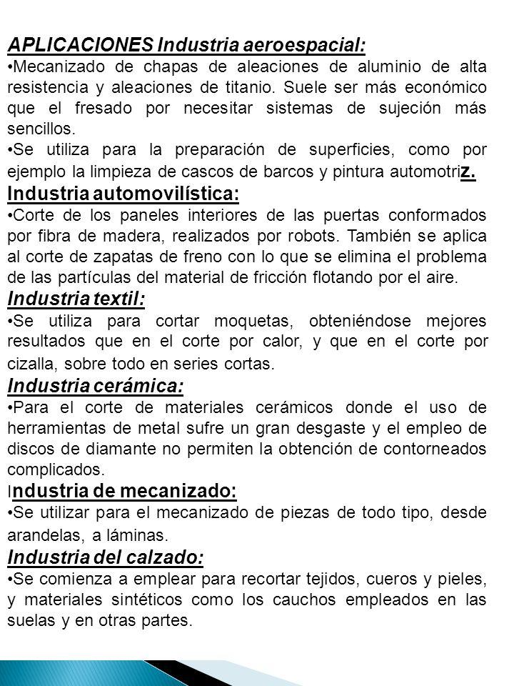 APLICACIONES Industria aeroespacial: