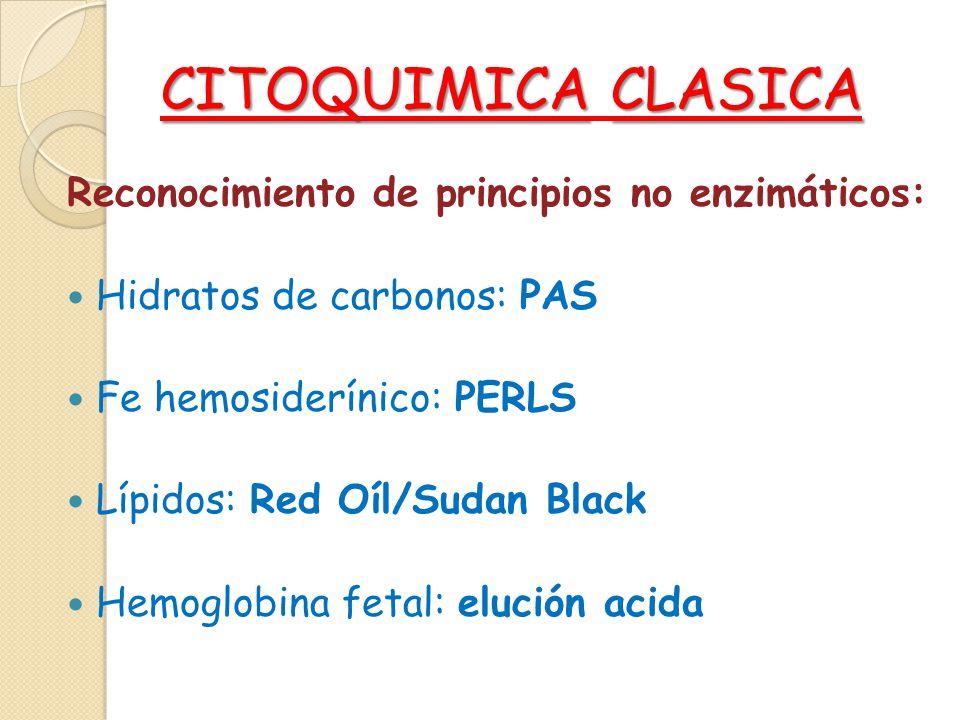 CITOQUIMICA CLASICA Reconocimiento de principios no enzimáticos: