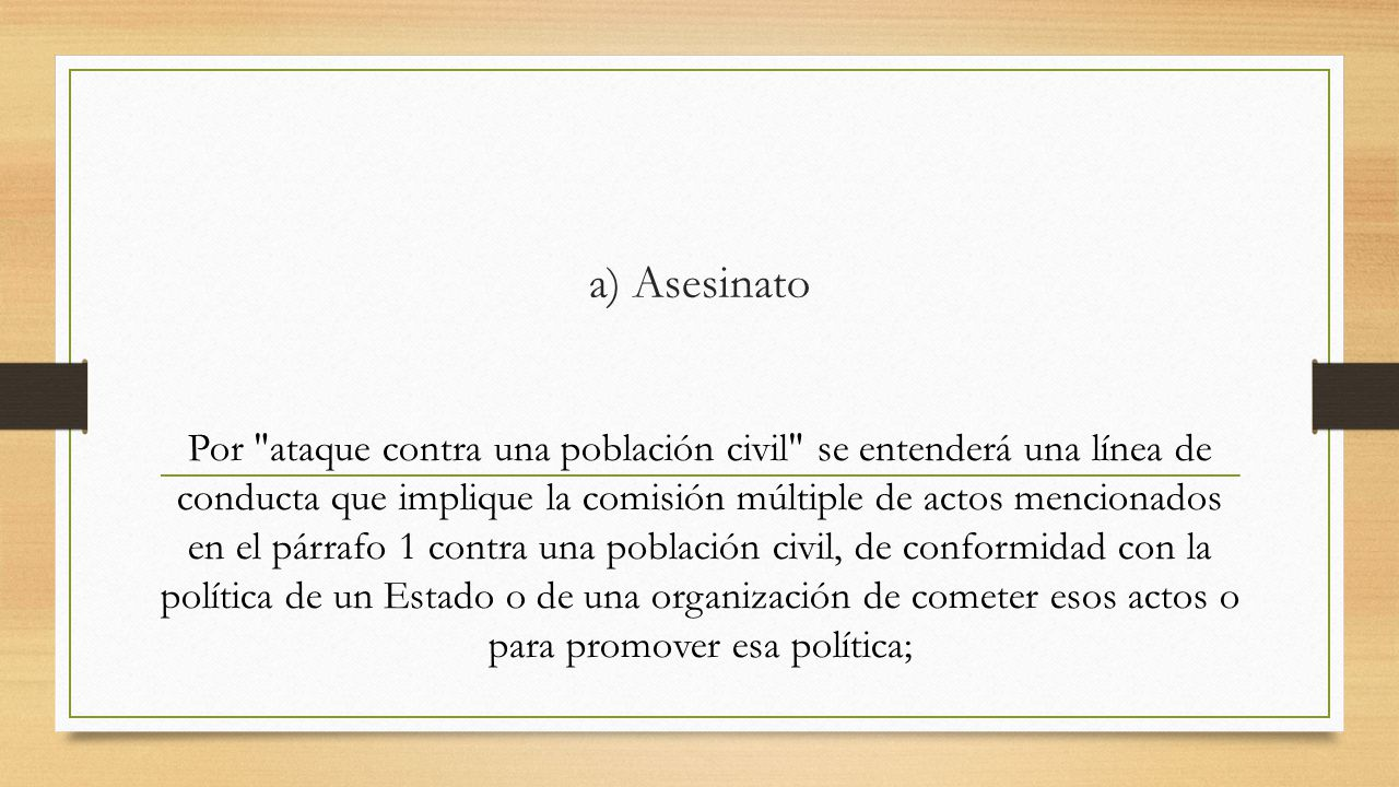 a) Asesinato