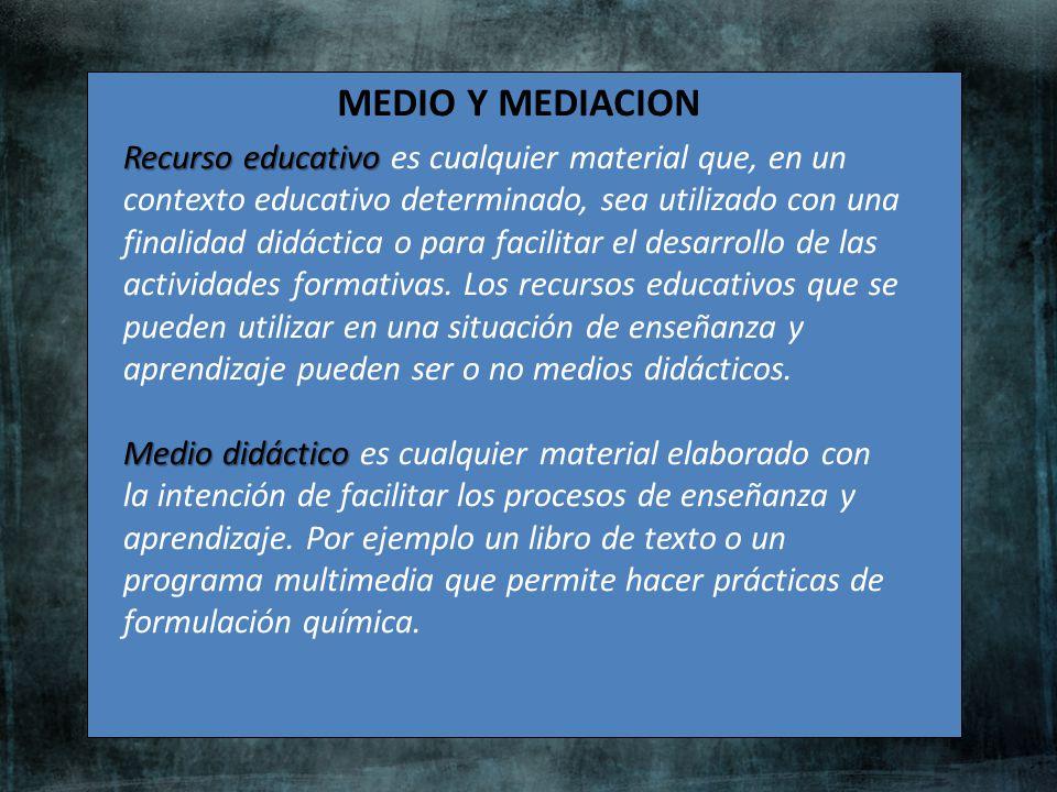 MEDIO Y MEDIACION