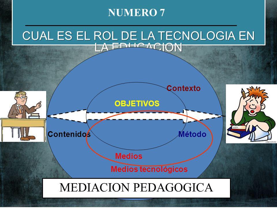 CUAL ES EL ROL DE LA TECNOLOGIA EN LA EDUCACION