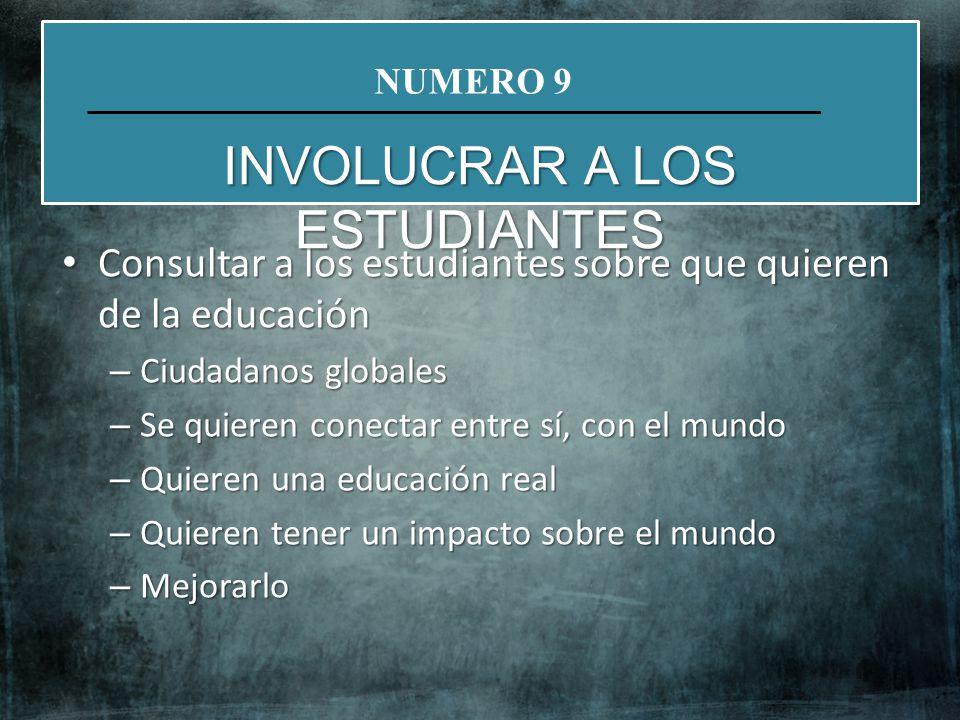 INVOLUCRAR A LOS ESTUDIANTES