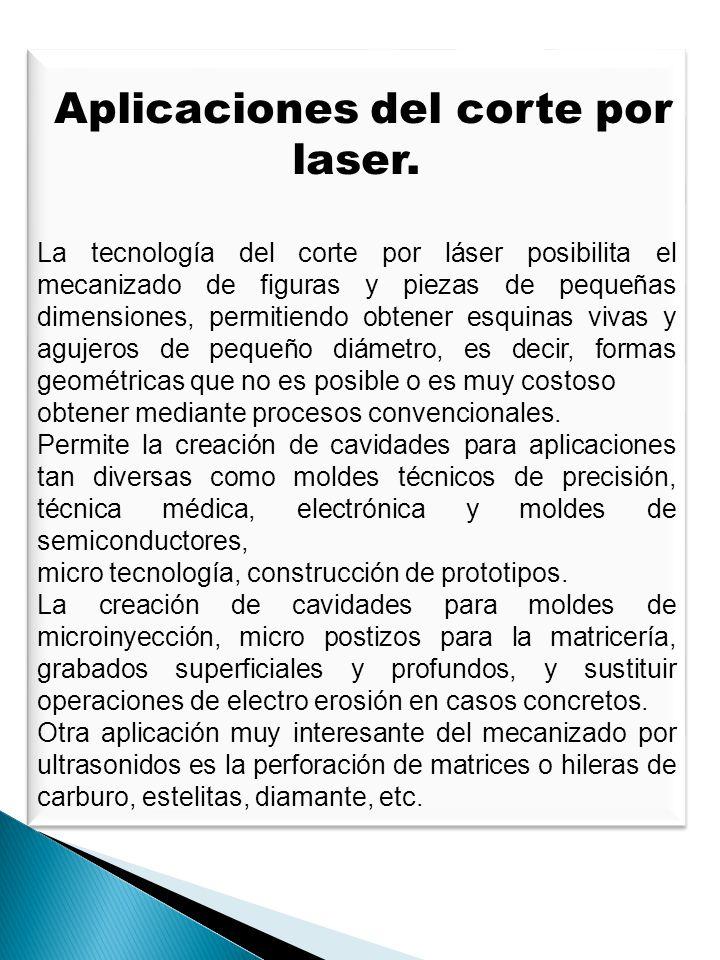 Aplicaciones del corte por laser.