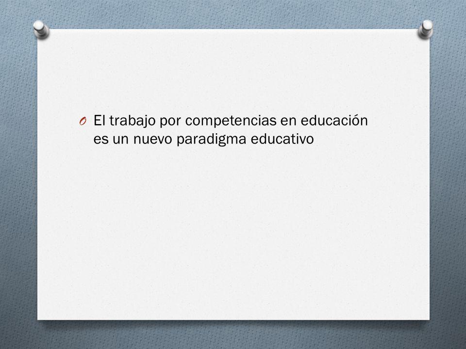 El trabajo por competencias en educación es un nuevo paradigma educativo