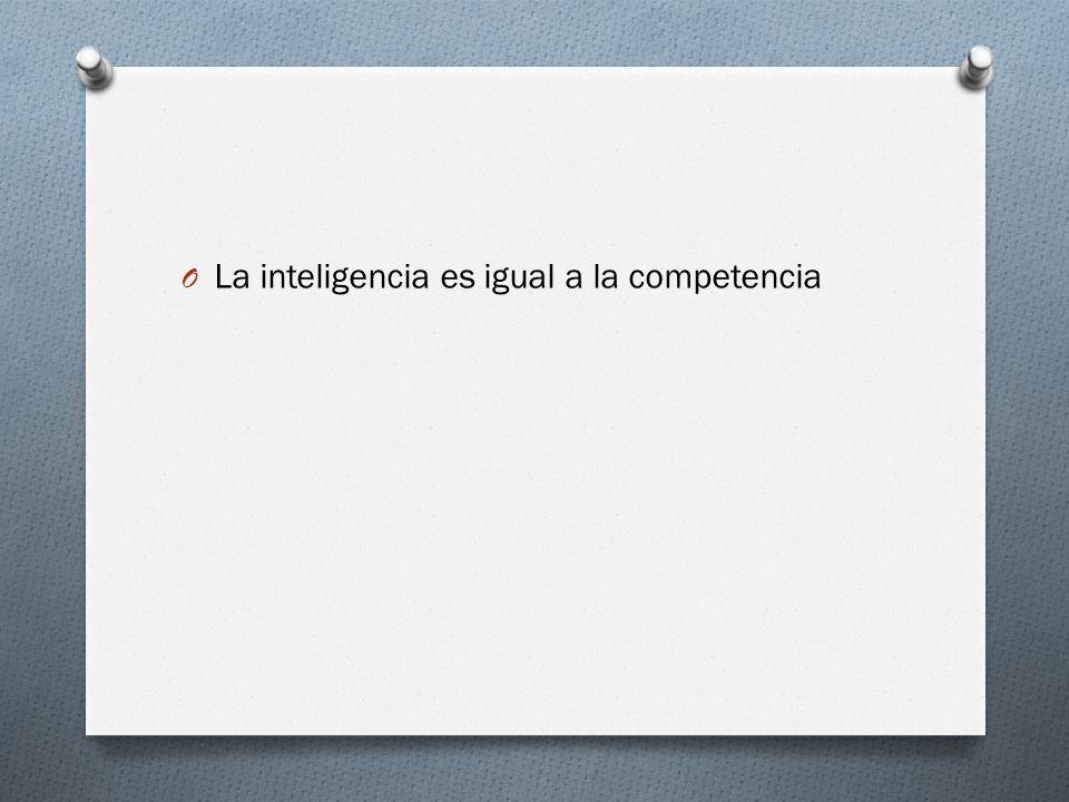 La inteligencia es igual a la competencia