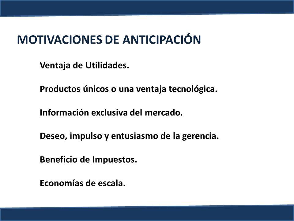 MOTIVACIONES DE ANTICIPACIÓN
