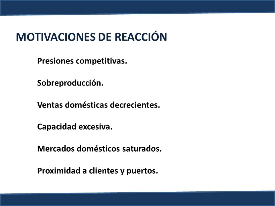 MOTIVACIONES DE REACCIÓN