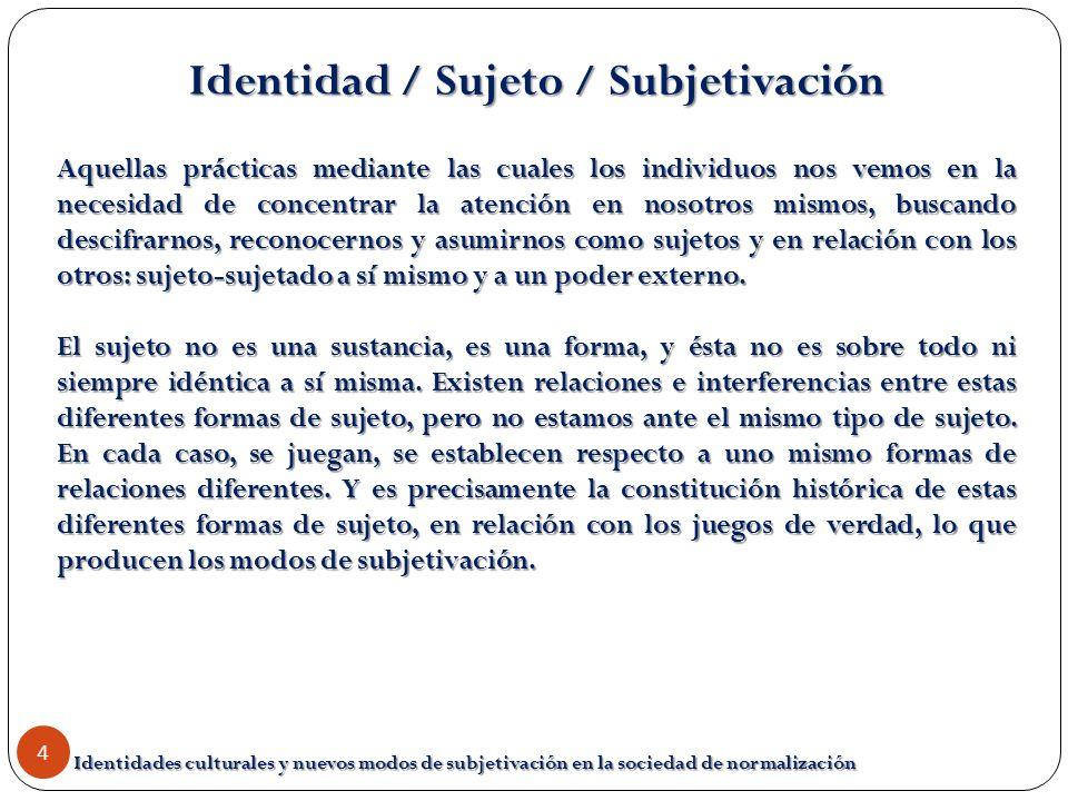 Identidad / Sujeto / Subjetivación