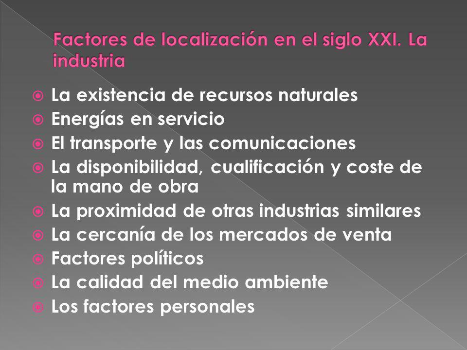 Factores de localización en el siglo XXI. La industria
