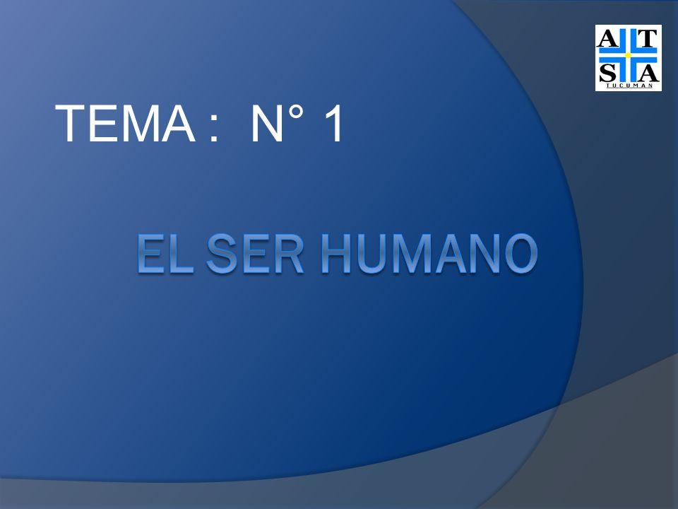 TEMA : N° 1 EL SER HUMANO