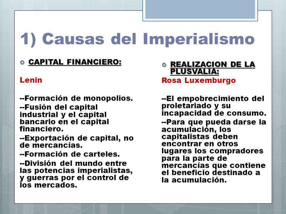 1) Causas del Imperialismo