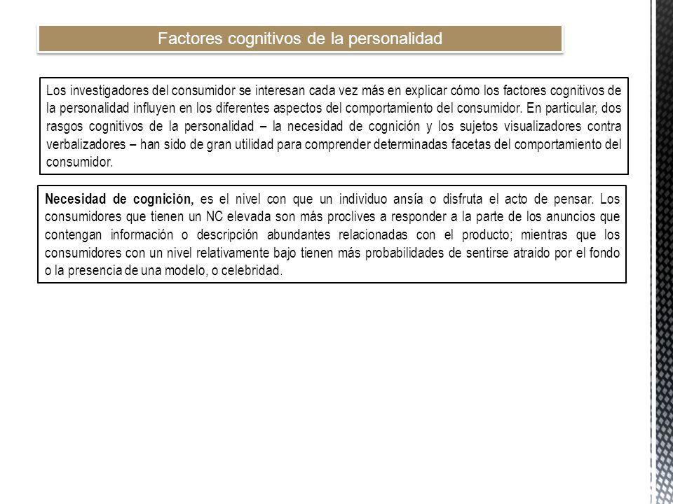 Factores cognitivos de la personalidad