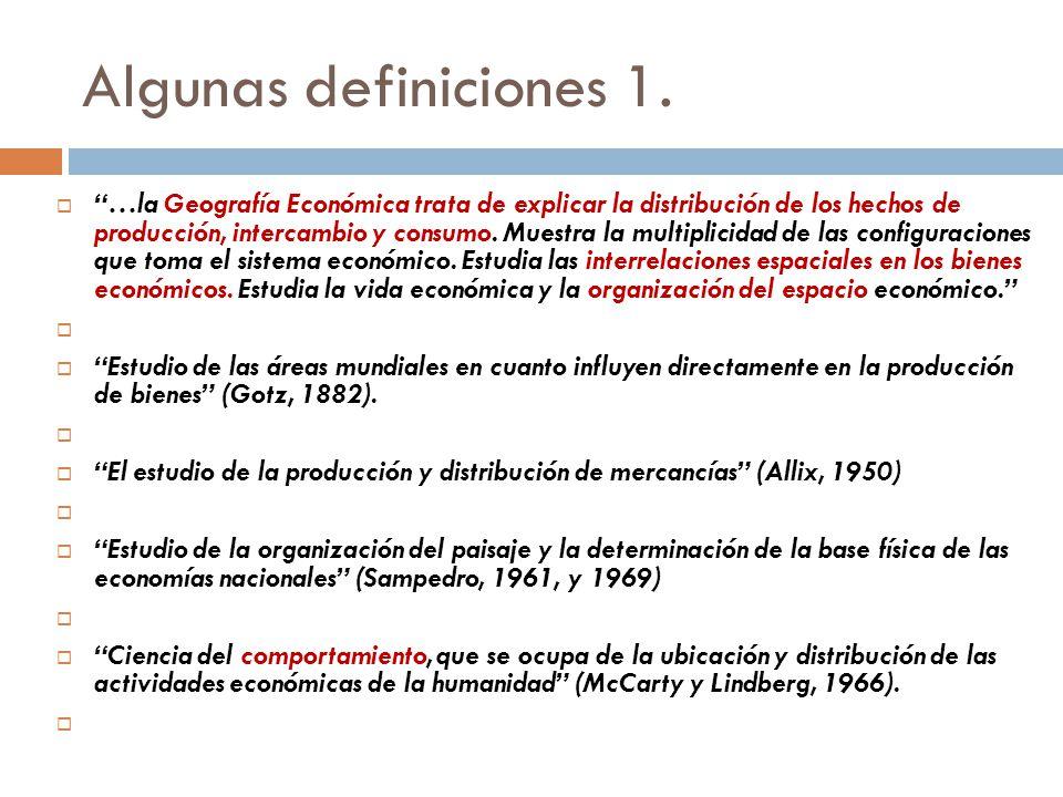 Algunas definiciones 1.