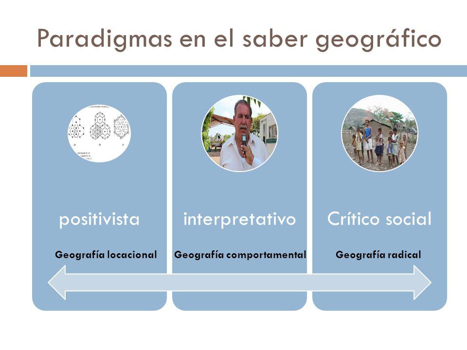 Paradigmas en el saber geográfico