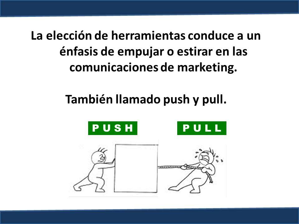 También llamado push y pull.