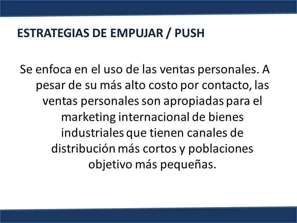 ESTRATEGIAS DE EMPUJAR / PUSH