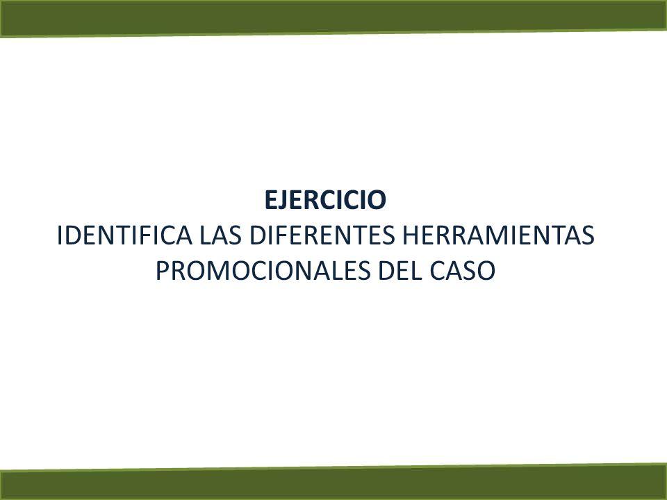 IDENTIFICA LAS DIFERENTES HERRAMIENTAS PROMOCIONALES DEL CASO