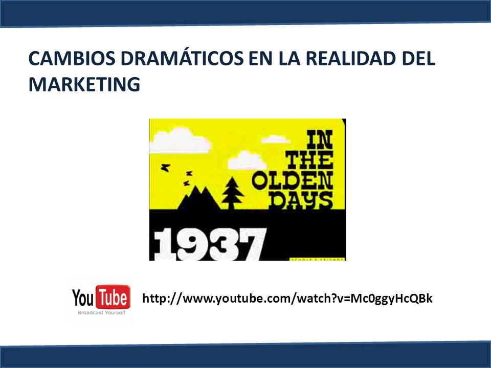 CAMBIOS DRAMÁTICOS EN LA REALIDAD DEL MARKETING