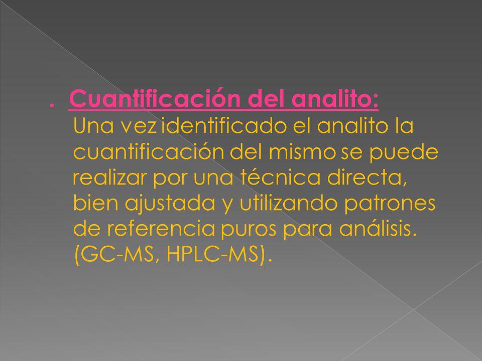 . Cuantificación del analito: