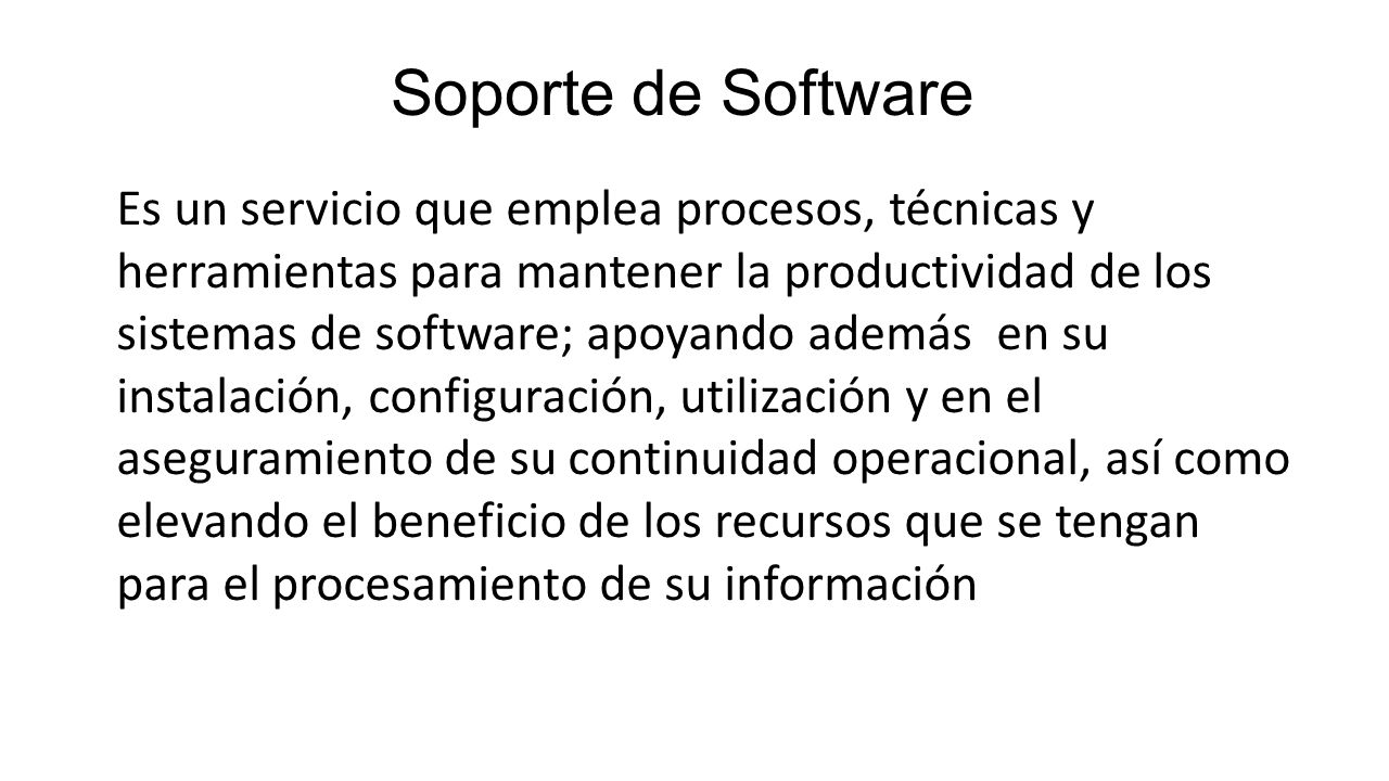 Soporte de Software
