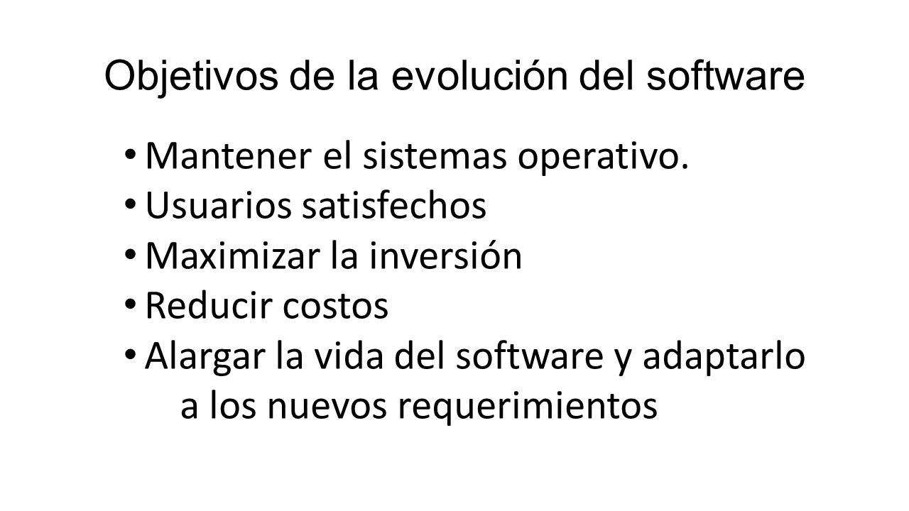 Objetivos de la evolución del software