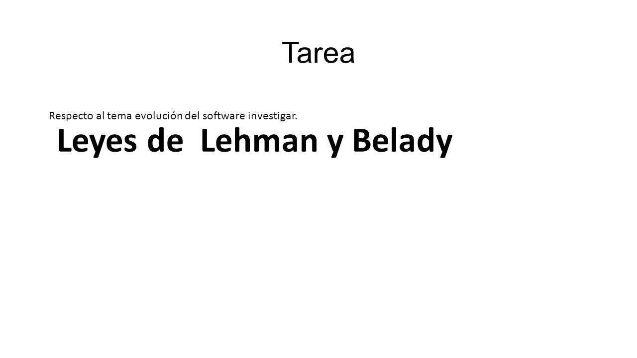 Leyes de Lehman y Belady