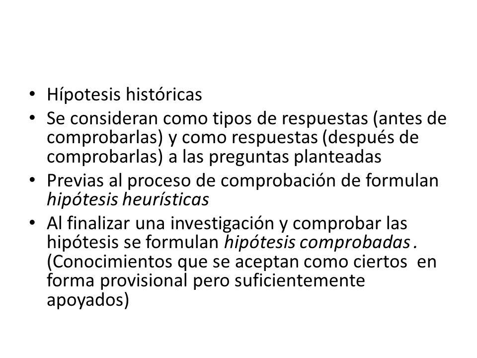 Hípotesis históricas