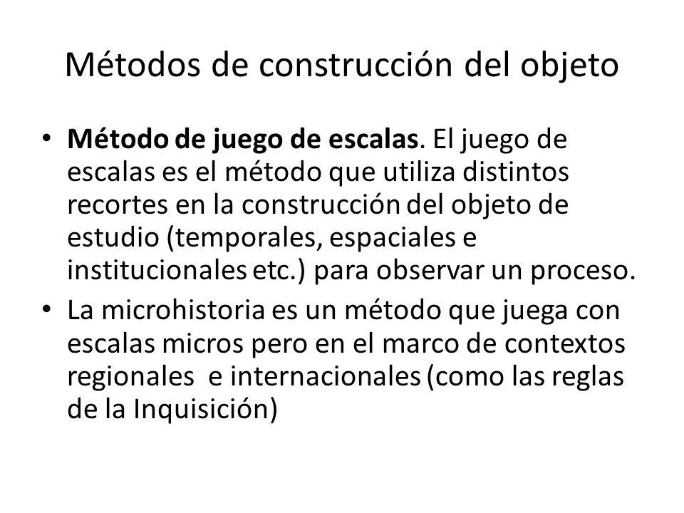 Métodos de construcción del objeto