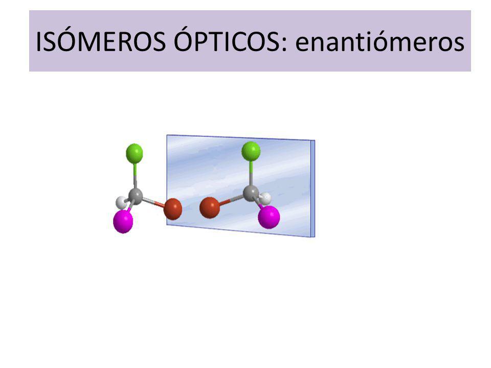 ISÓMEROS ÓPTICOS: enantiómeros