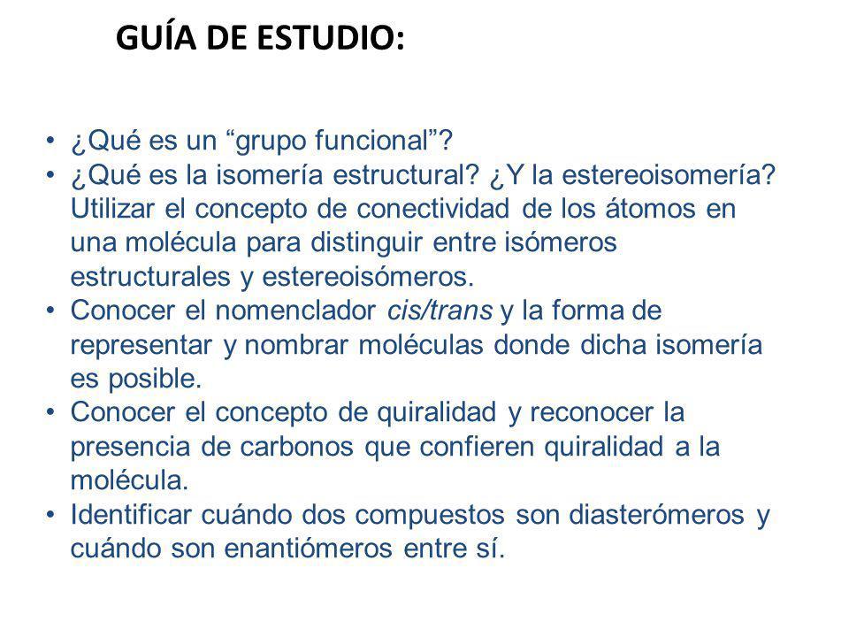GUÍA DE ESTUDIO: ¿Qué es un grupo funcional