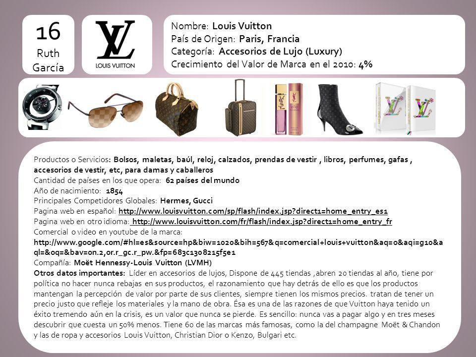 16 logo Ruth García Nombre: Louis Vuitton